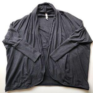 Lululemon To & Flow charcoal grey cardigan
